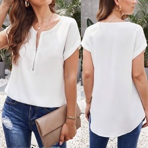 Coming Soon! Willa White Summer Blouse